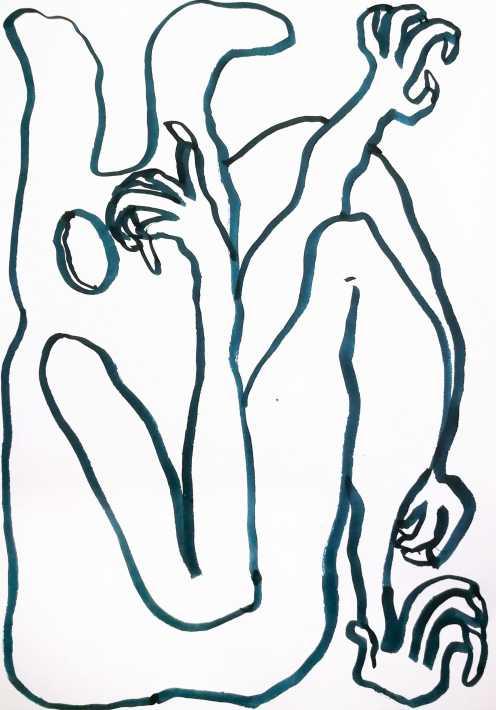 Untitled, 2020 Ink on paper 21 x 14,8cm hvm